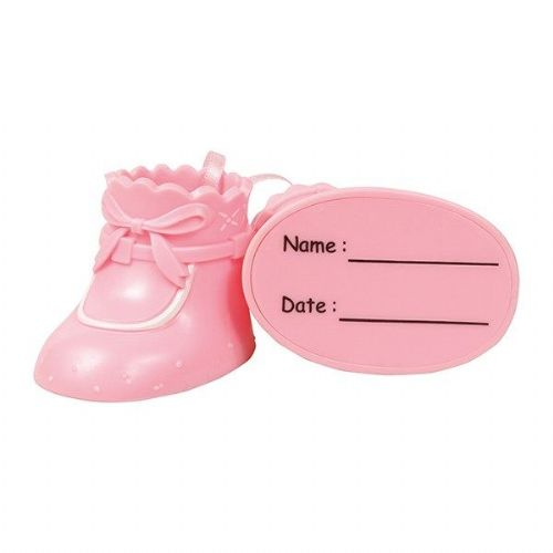 Cake Star Plastic Topper - Booties Pink